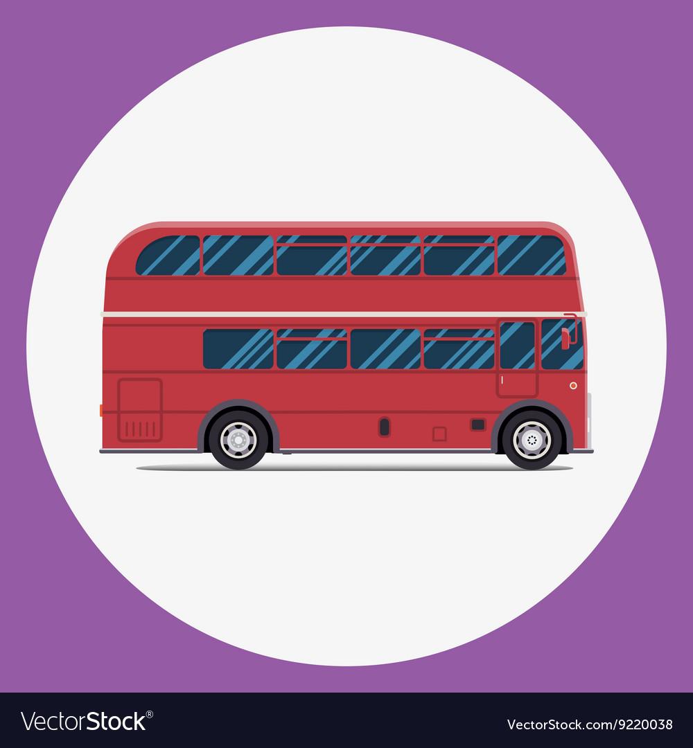 London bus sity transportation Modern flat design