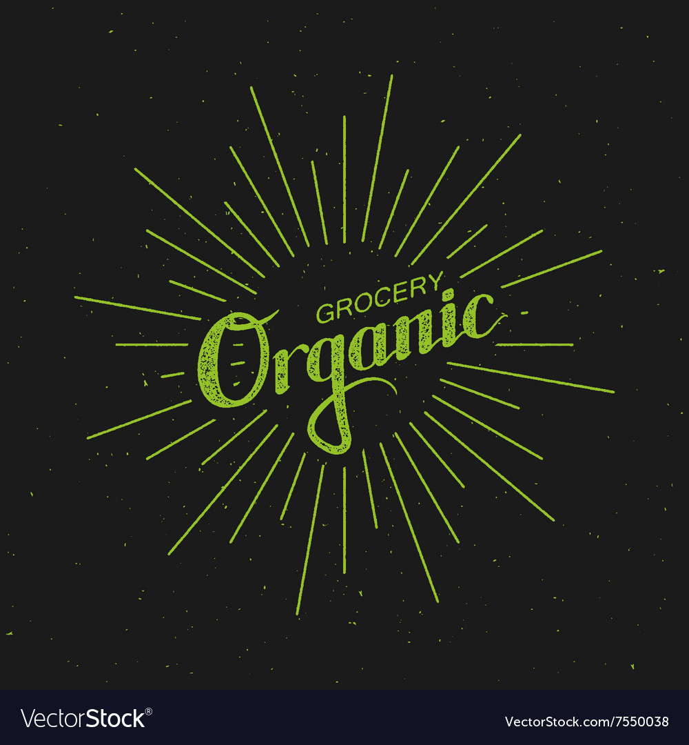 Organic Grocery Sign