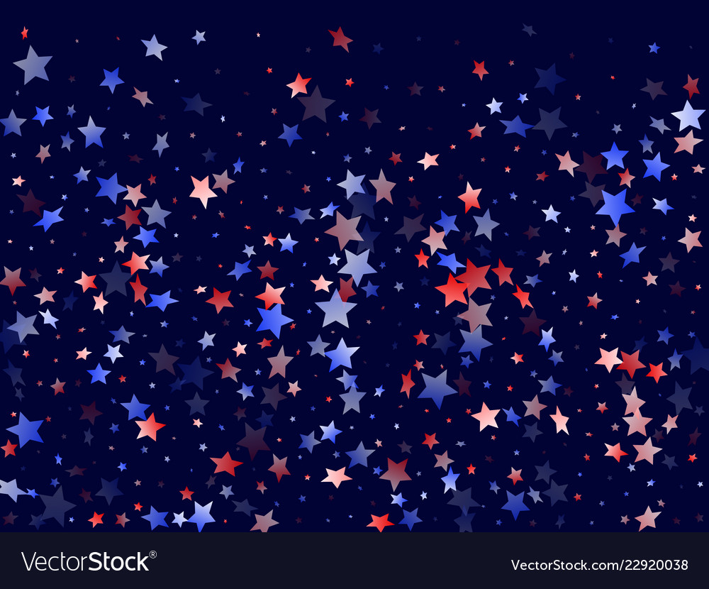 red blue white star sparkles american background vector image vectorstock