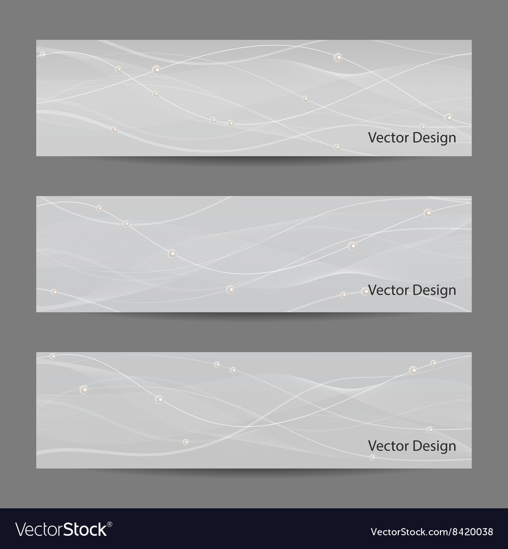 Set of horizontal banners
