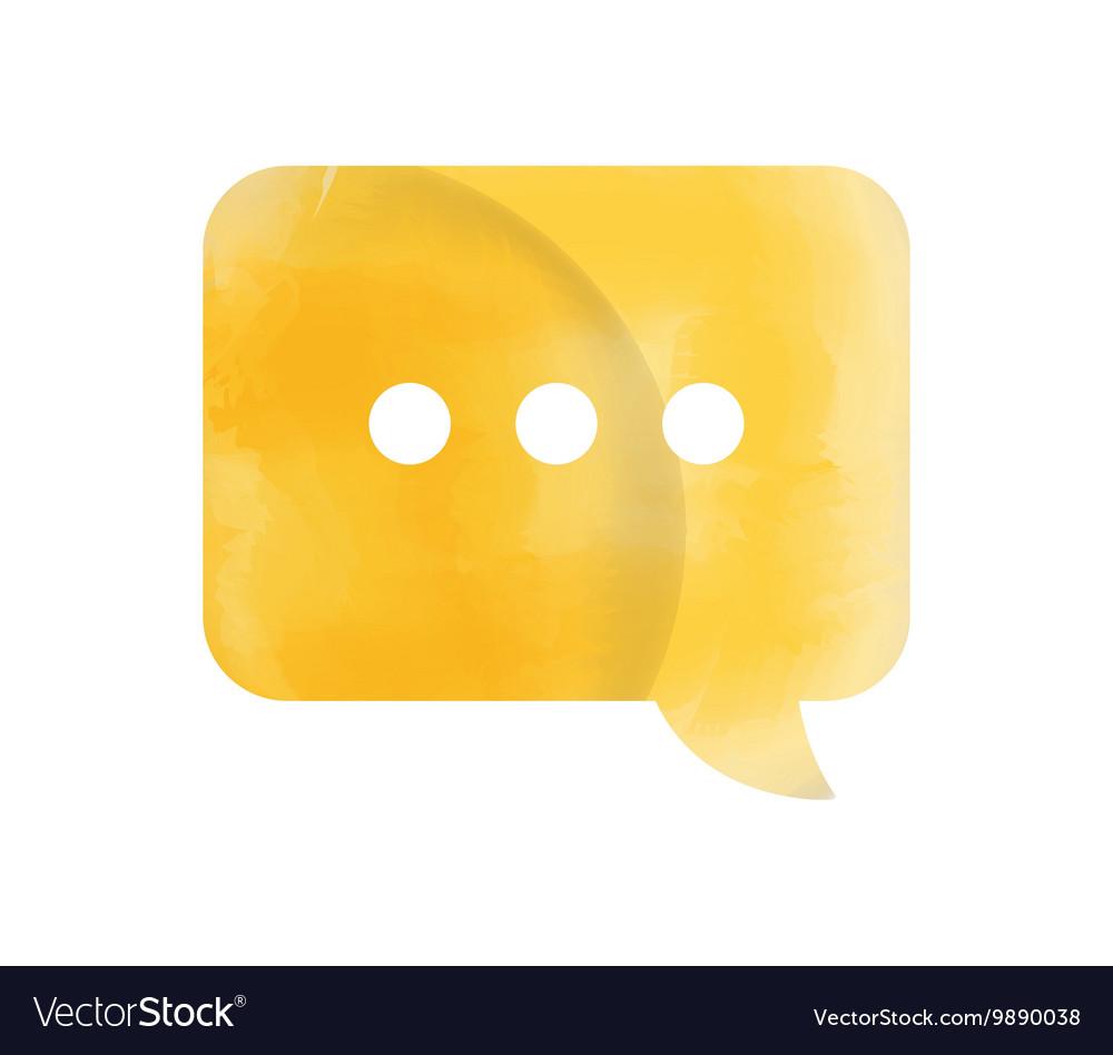 Speech bubble watercolor isolated icon design vector image