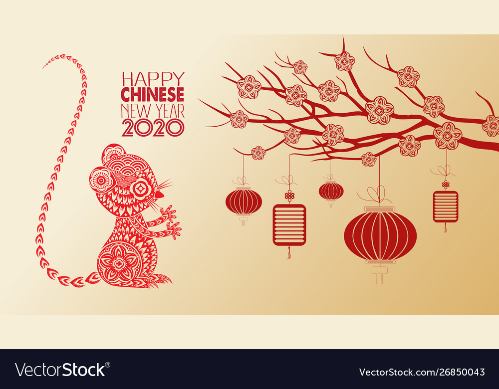 Beautiful Happy New Year 2020 Wallpapers Year Of Vector Image