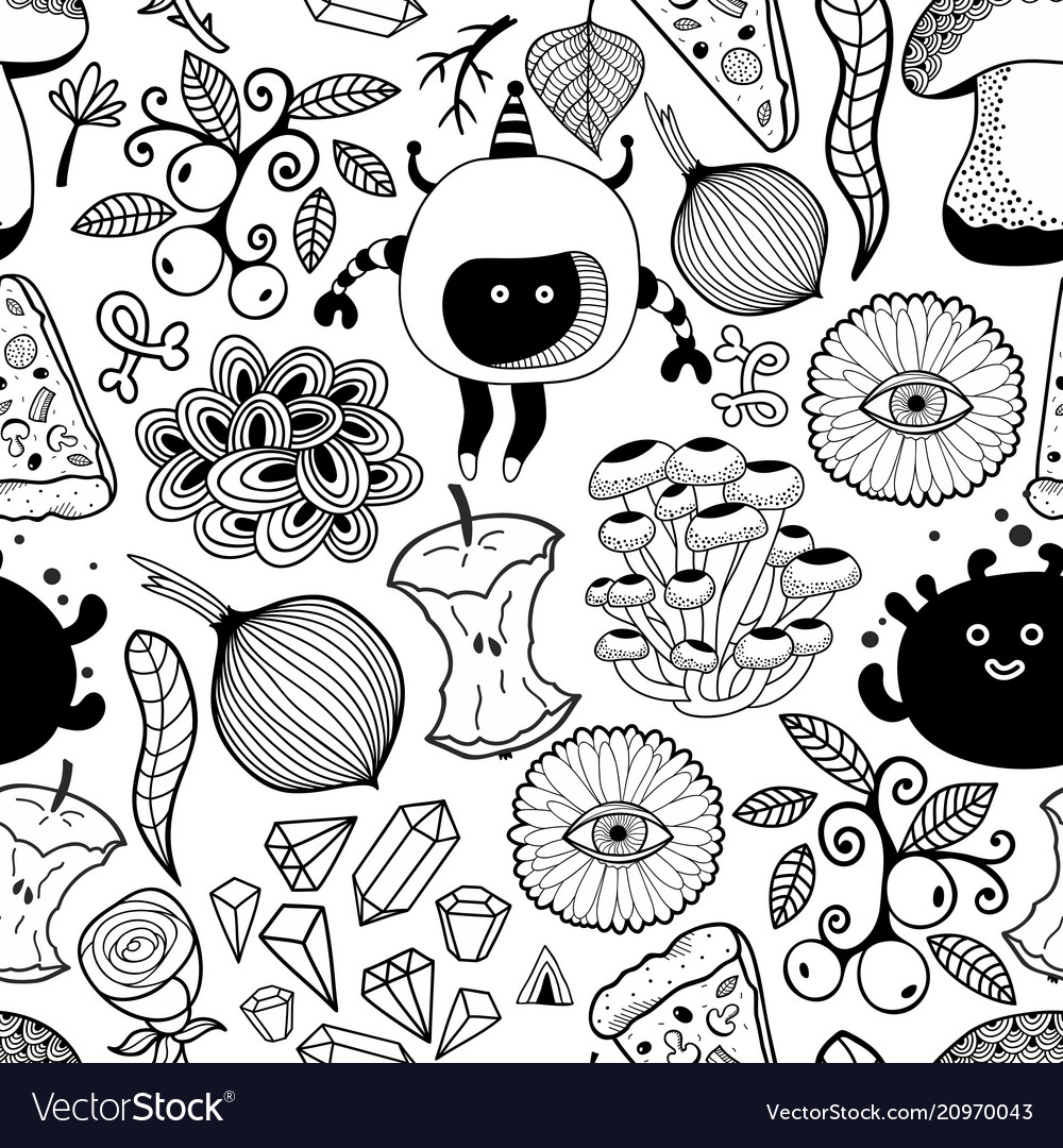 Black and white wallpaper for coloring