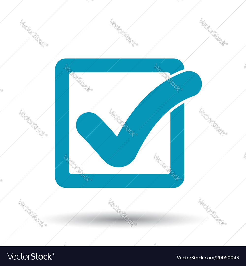 Check mark button icon flat approved sign symbol