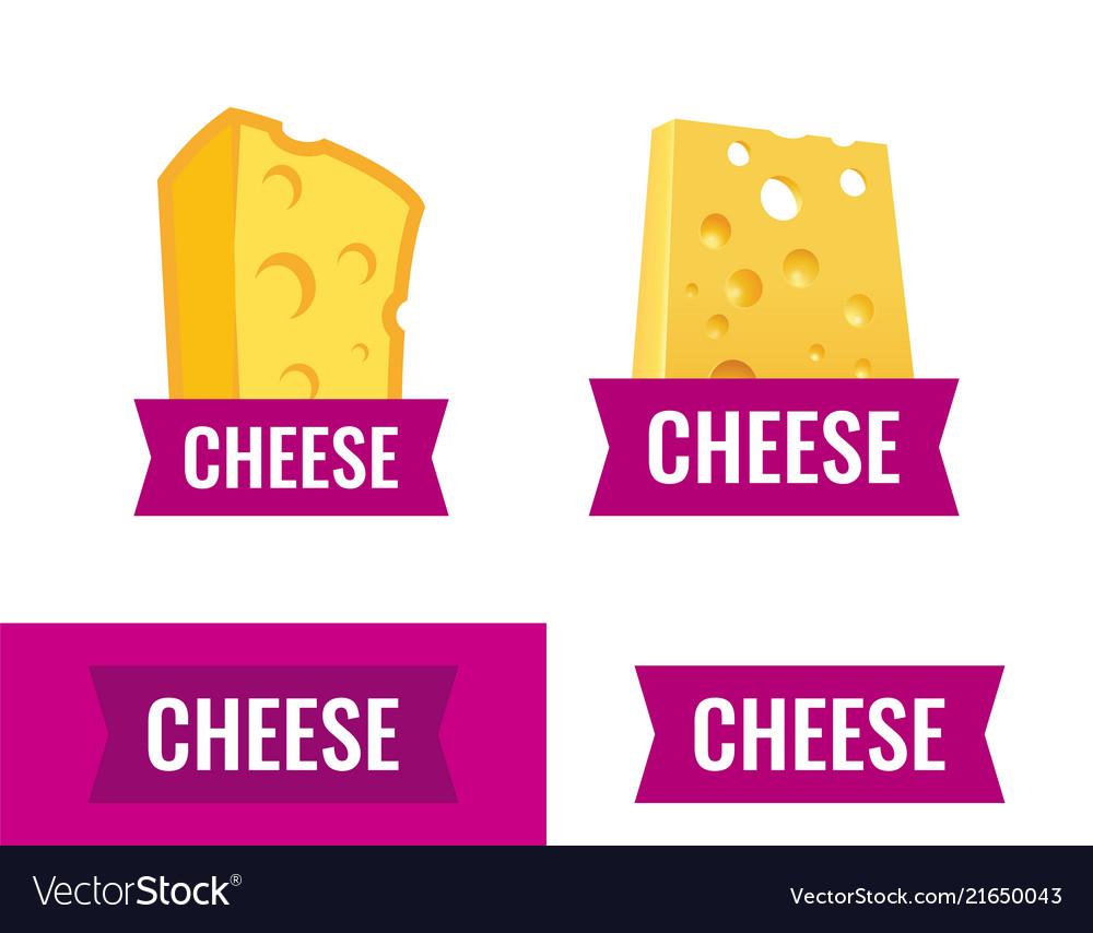 Cheese logo on white background - emblem
