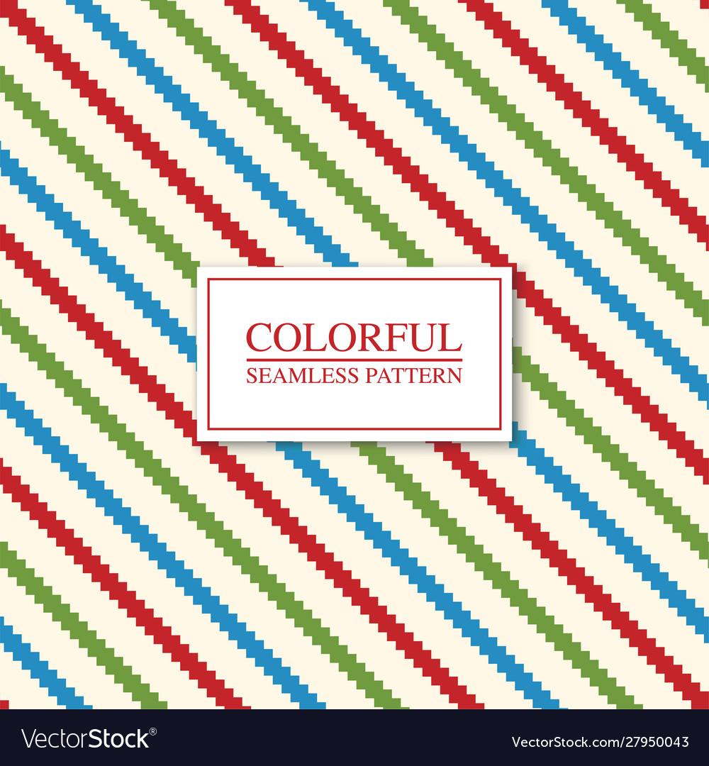 Colorful seamless geometric pattern - striped
