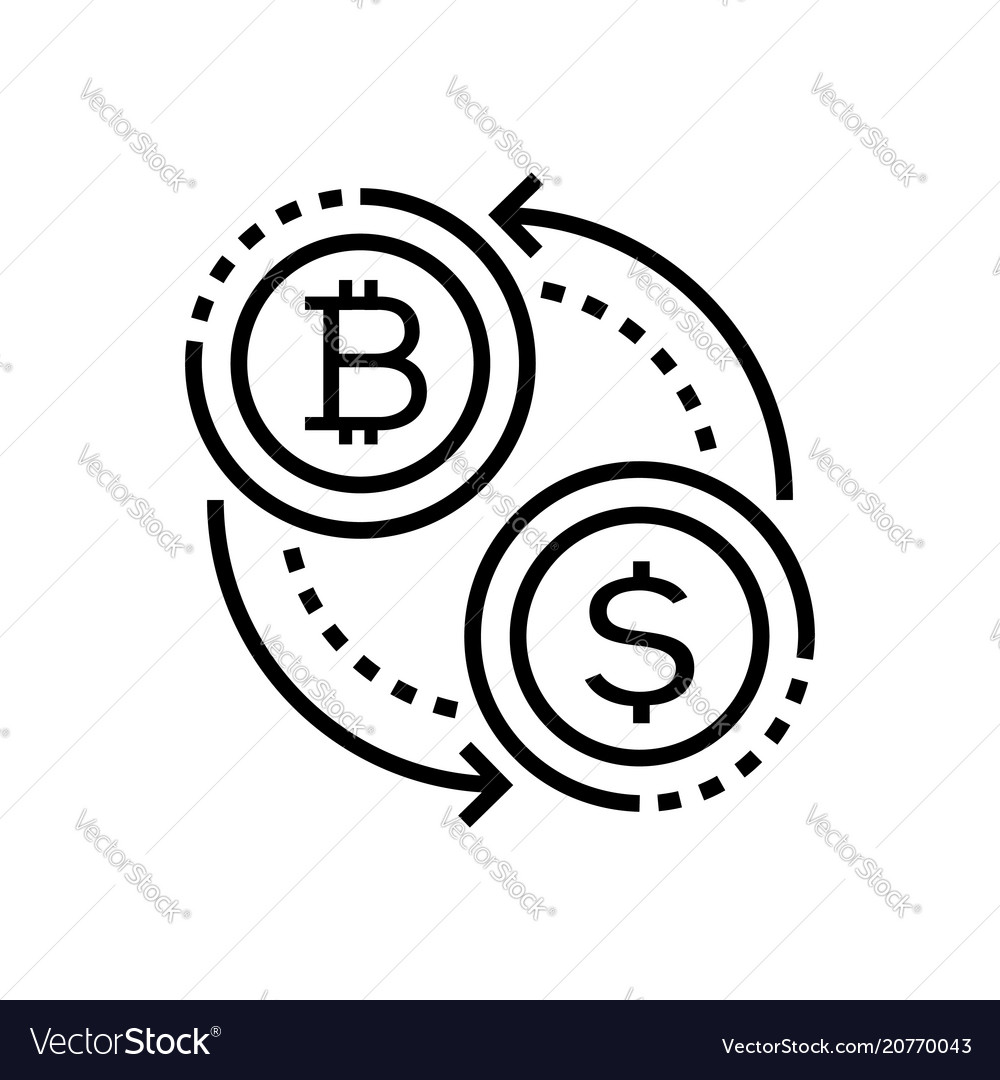Cryptocurrency - line design single isolated icon