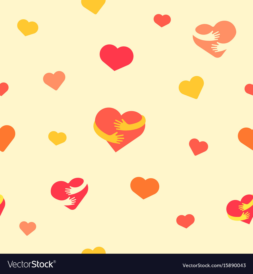 Hearts seamless pattern baby background with