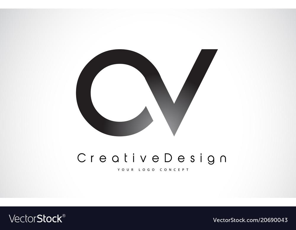 Ov o v letter logo design creative icon modern