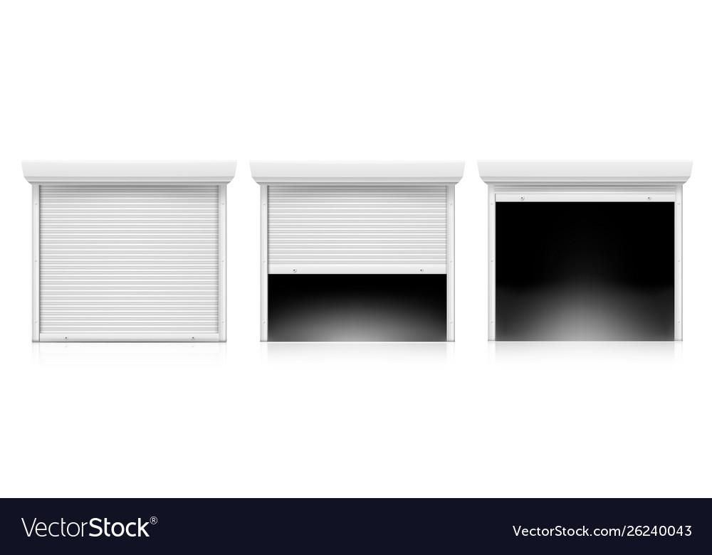 Roller shutter door set coiling door for security