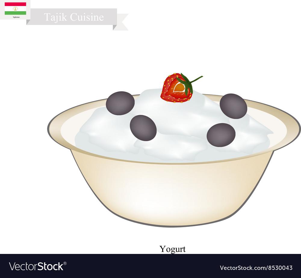 Tajik Yogurt or Fermented Milk Cream