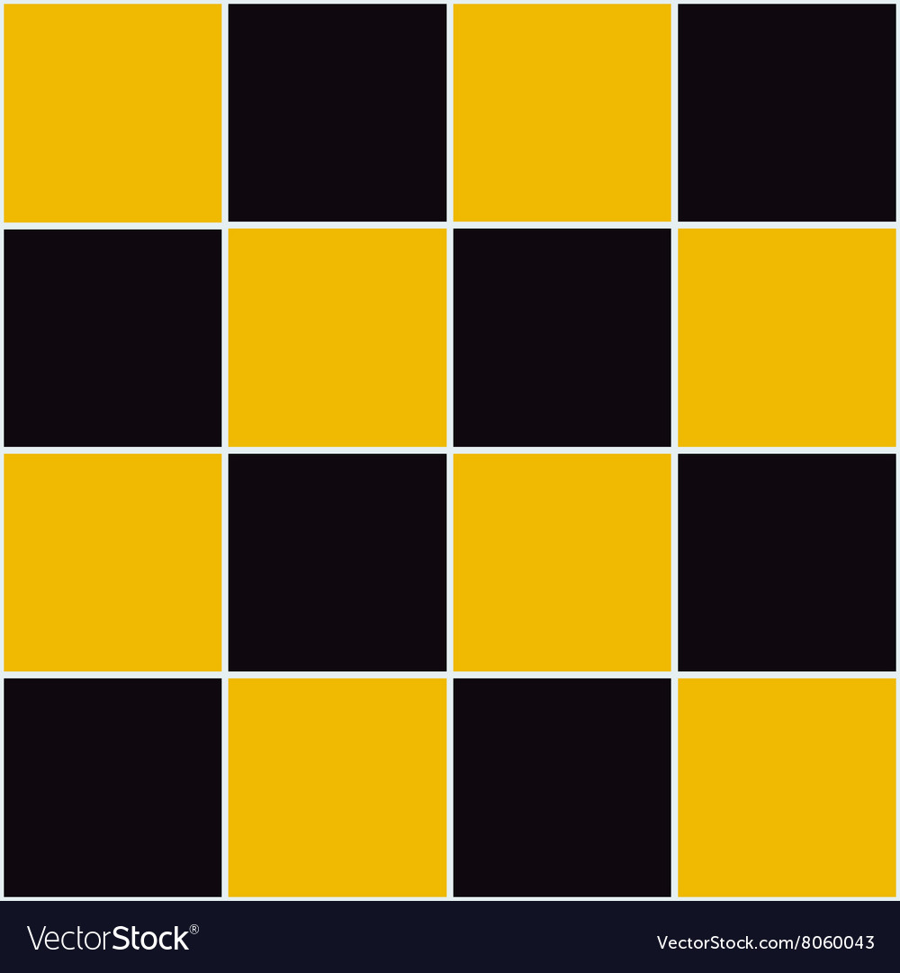 Yellow Black Chessboard Background