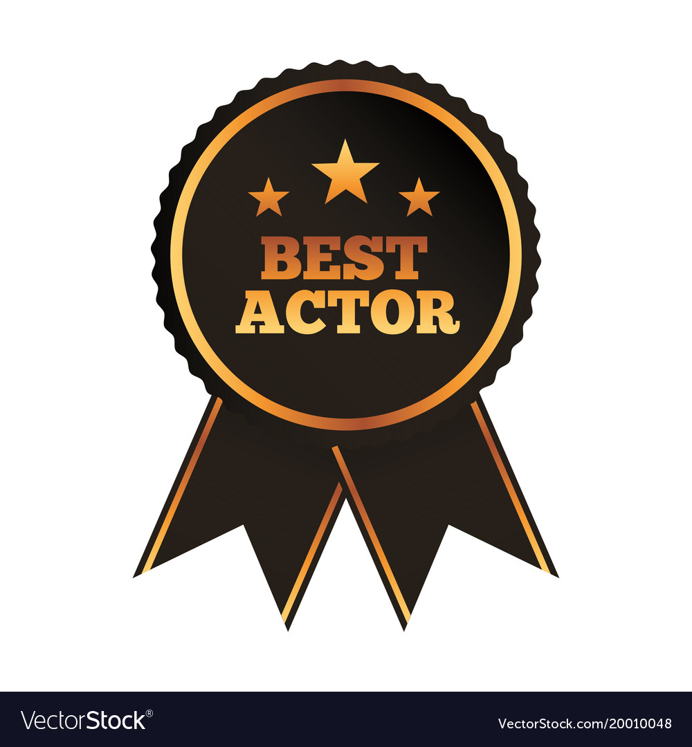The Best Image Imagefree Co: Best Actor Award Rosette Ribbon Image Royalty Free Vector