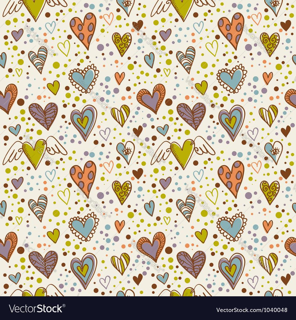 Cute doodle seamless wallpaper
