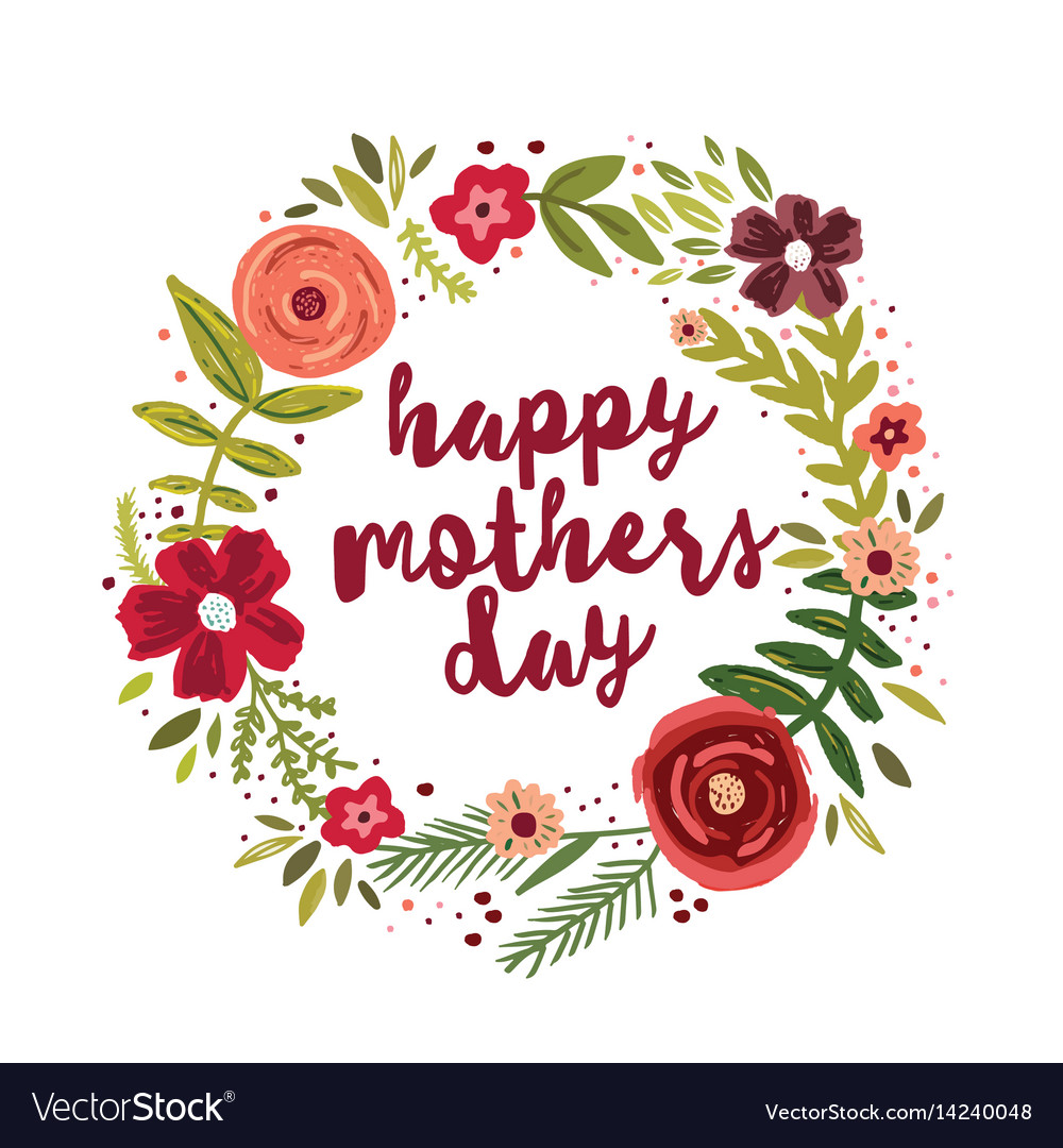 Happy mothers day greetings card