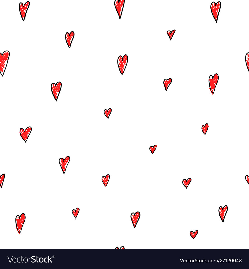 Love valentines day hearts seamless pattern