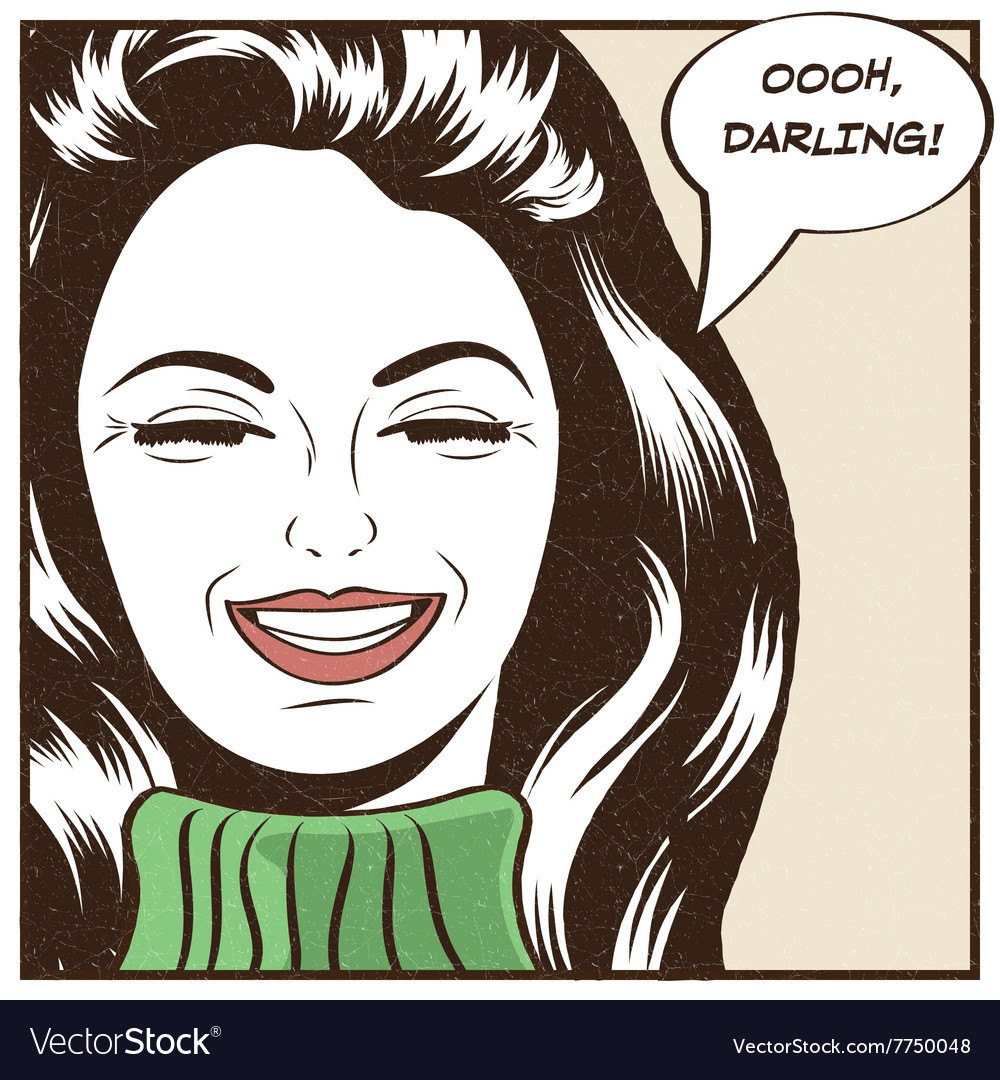 Pop Art of girl with the speech bubble