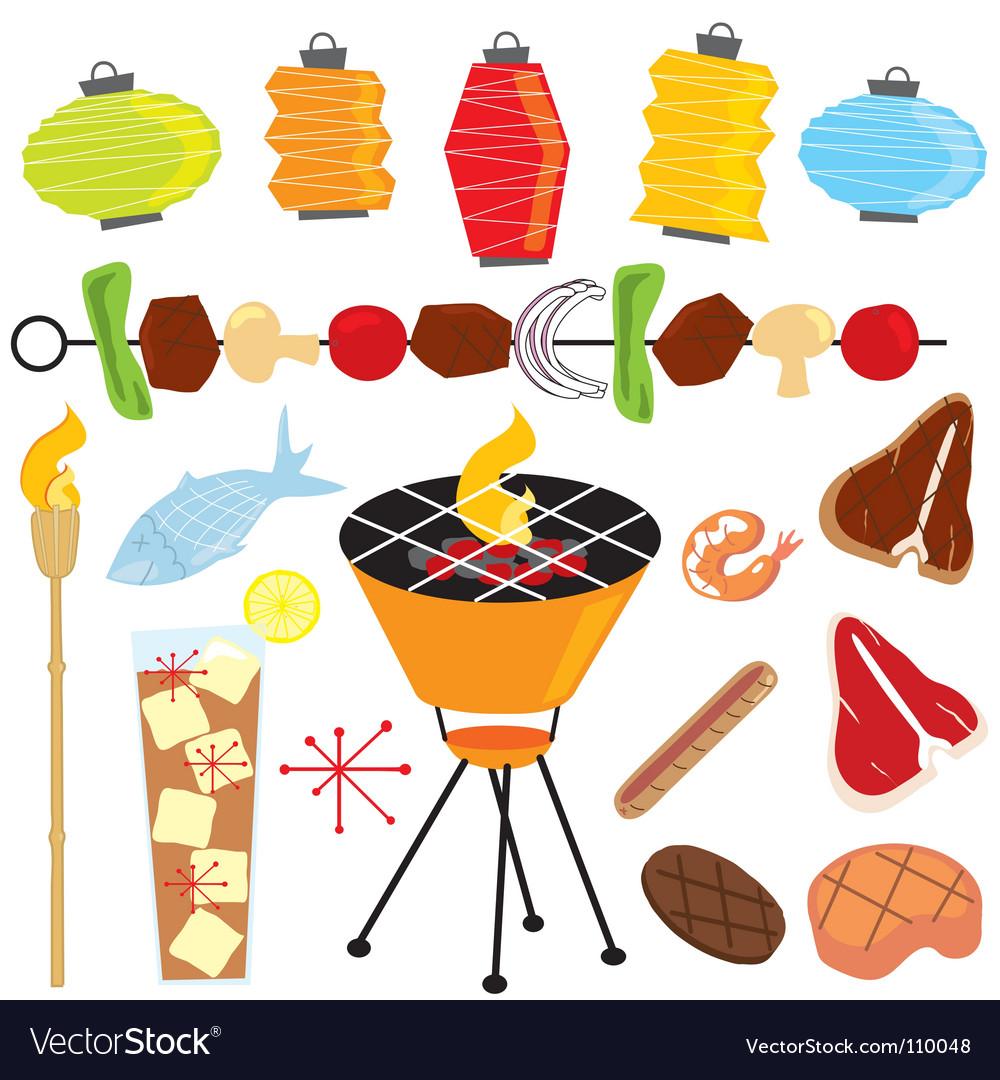 Retro barbeque party