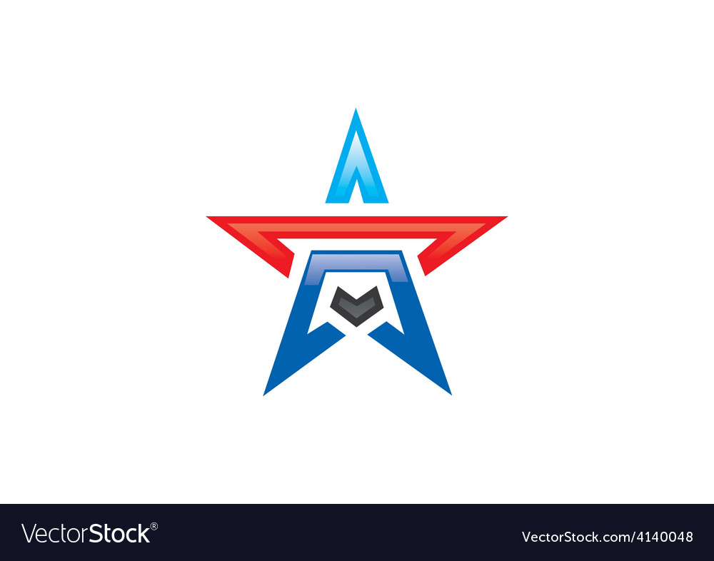 Star shape pride logo vector image
