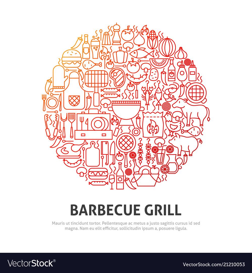 Barbecue grill circle concept