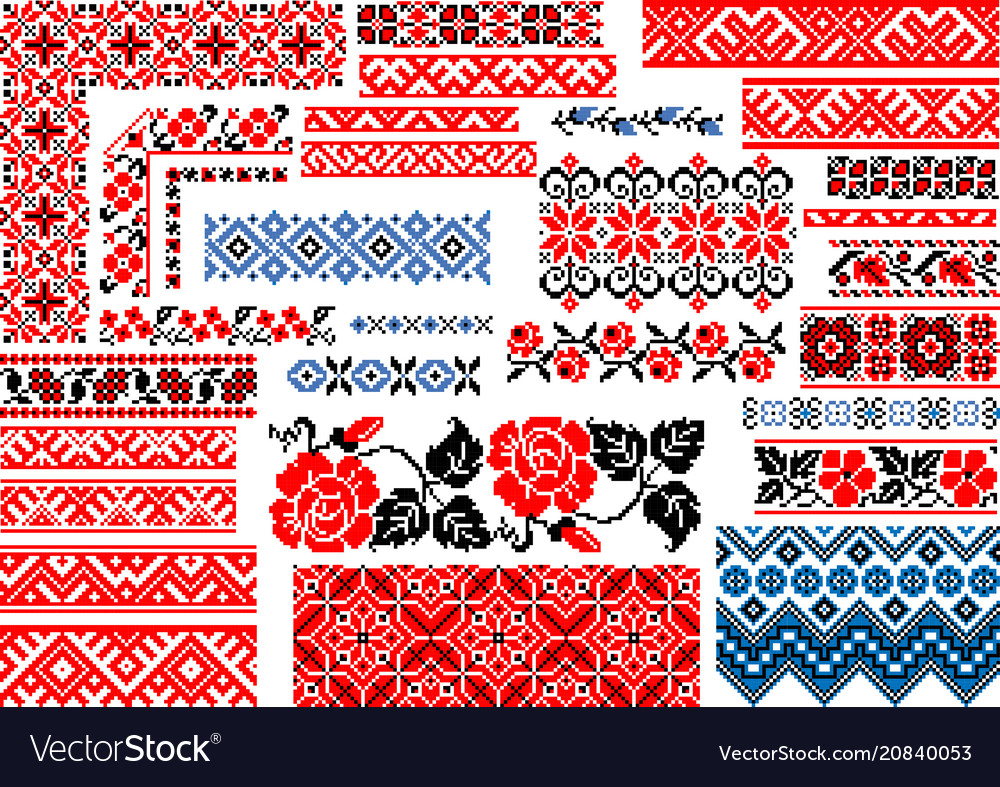 Collection 30 seamless ethnic patterns