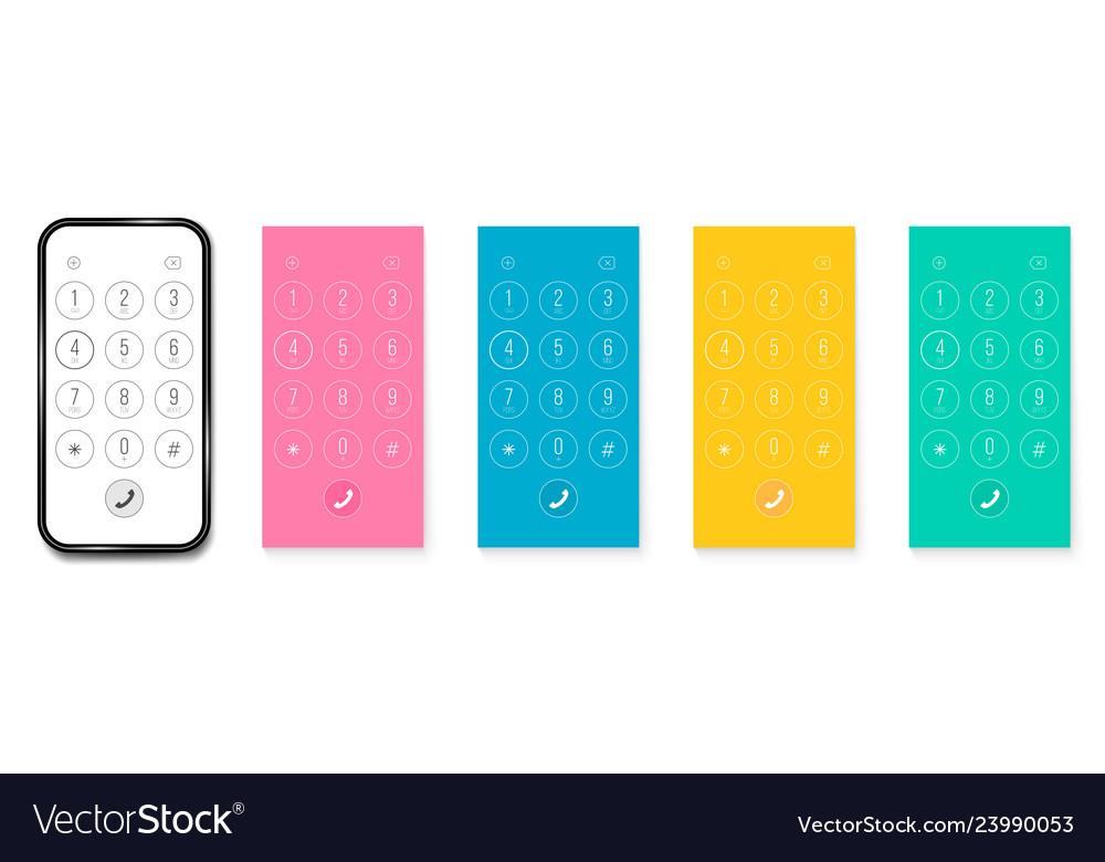 Creative of phone dial keypad