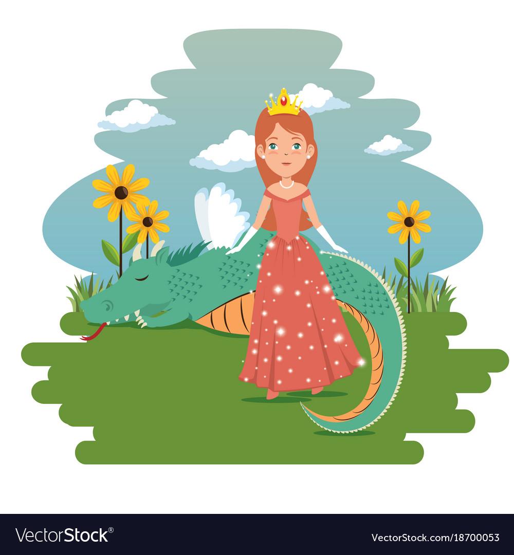 Fantastic character fairytale princess