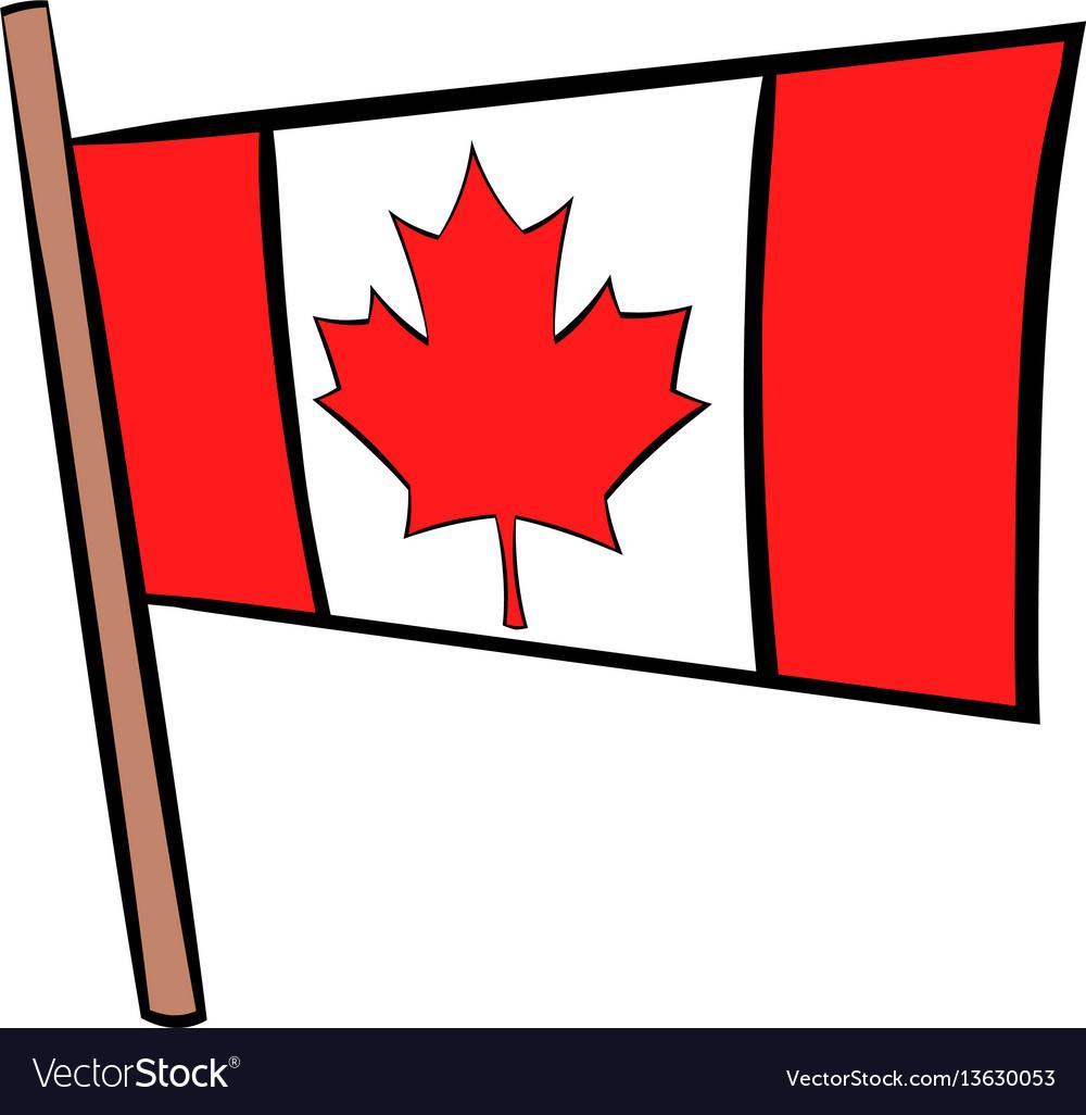 Flag canada icon cartoon