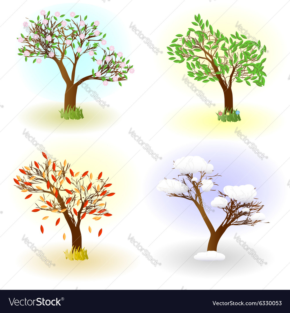 Four seasons of love vector image
