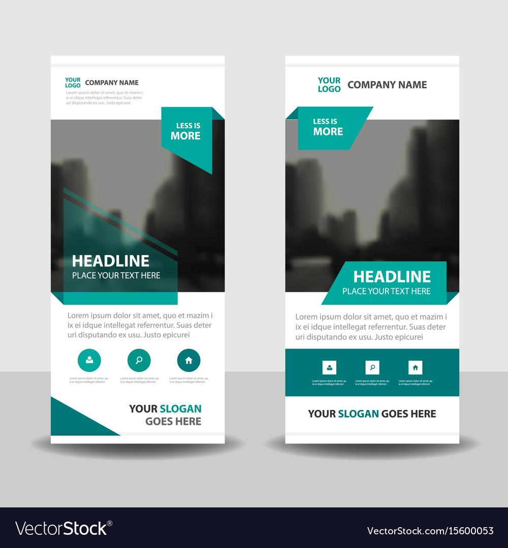 green business roll up banner flat design template
