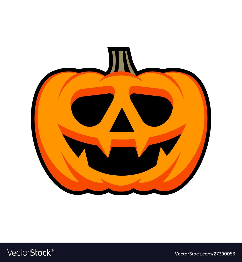 Halloween pumpkin with happy face