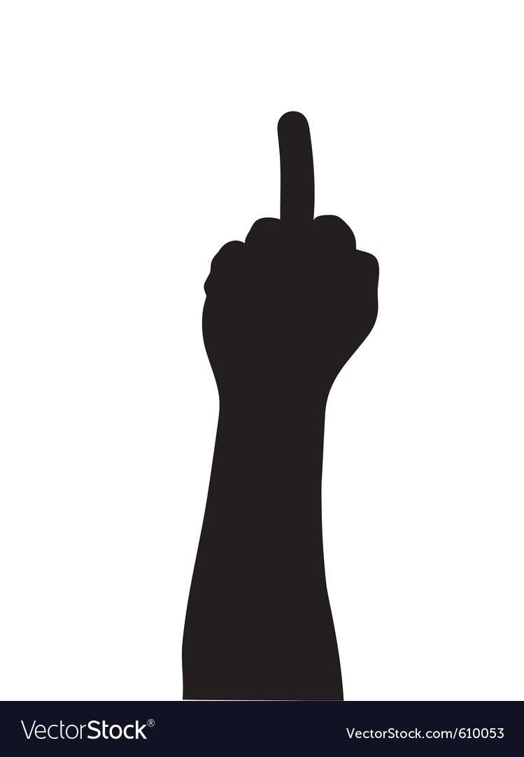 middle finger royalty free vector image vectorstock rh vectorstock com middle finger vector art free middle finger vector free download