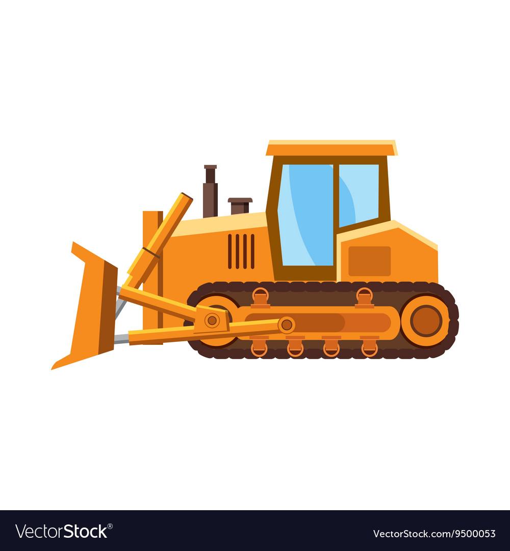 quality design ed150 a6a88 Orange bulldozer icon cartoon style