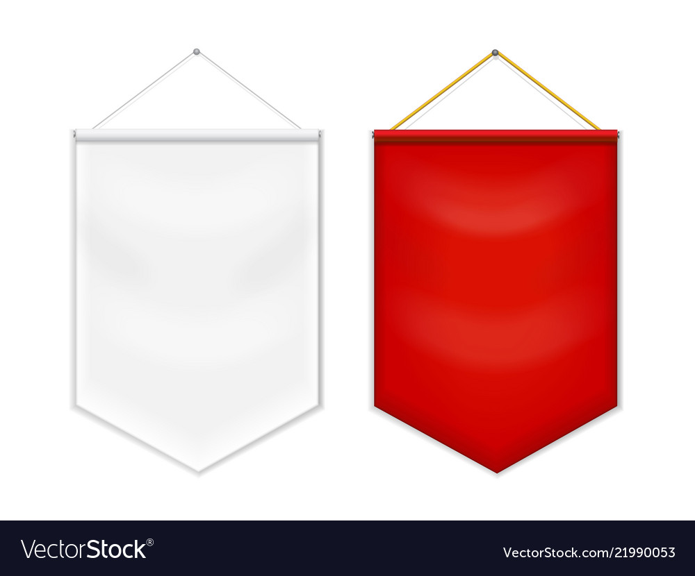 Red white pennant template