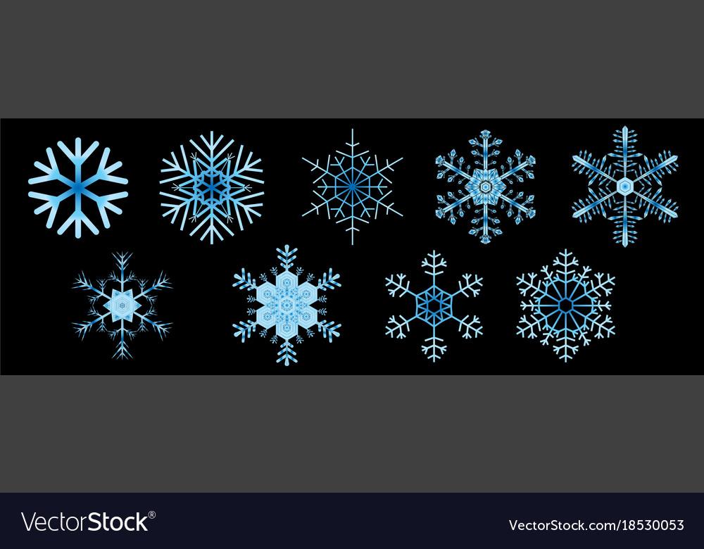 Snowflake Symbol For Christmas On White Background