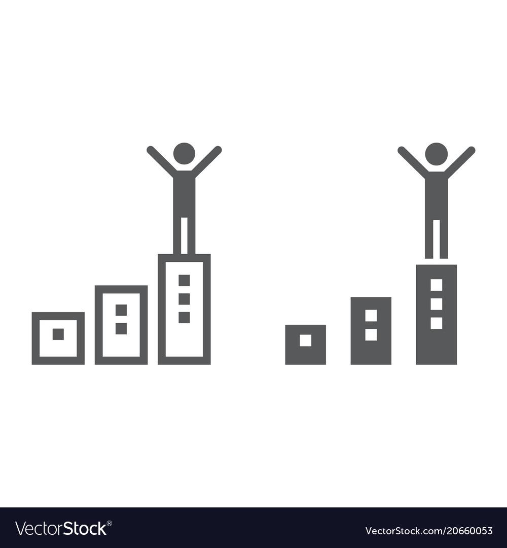 Success line and glyph icon development