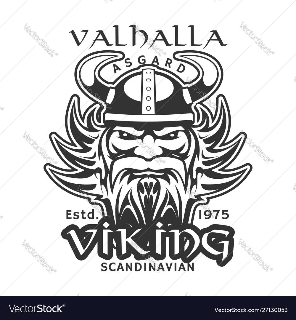 Valhalla asgard viking warrior t-shirt print