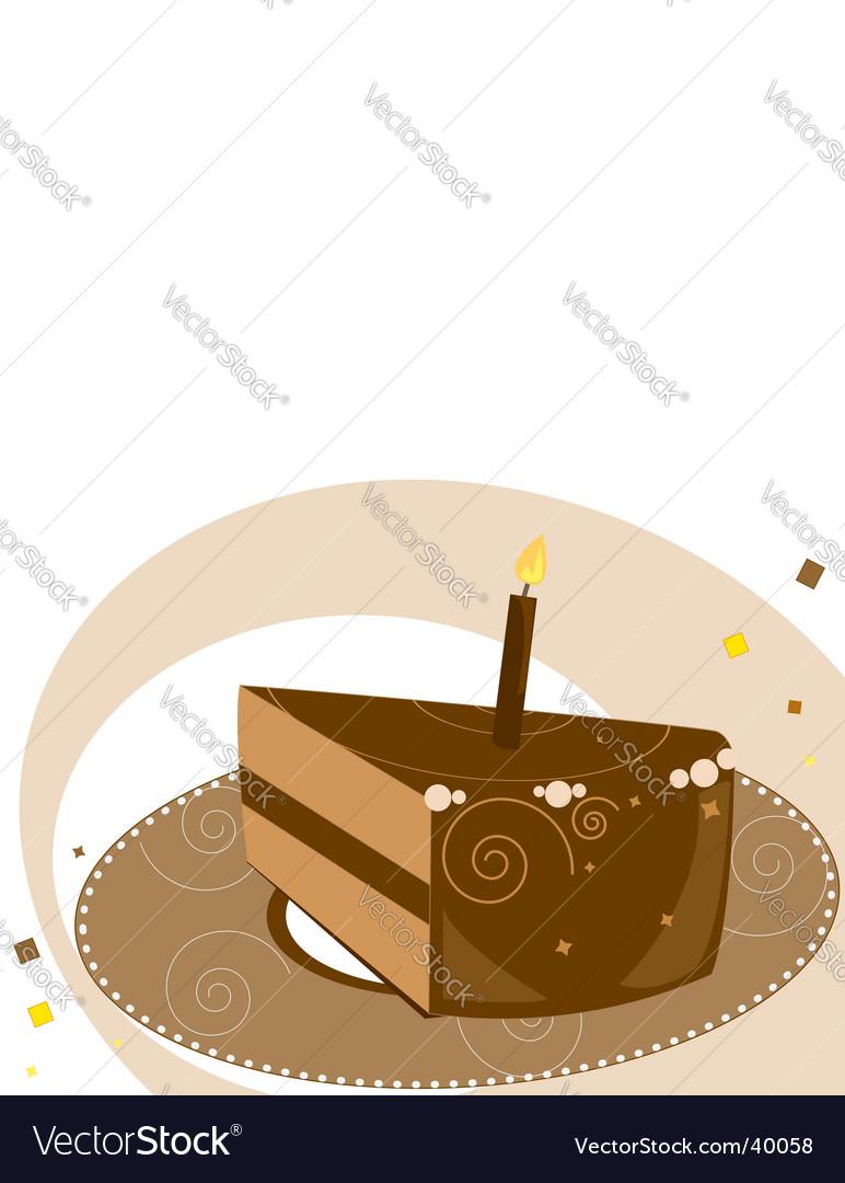 Birthday Cake Slice Royalty Free Vector Image Vectorstock