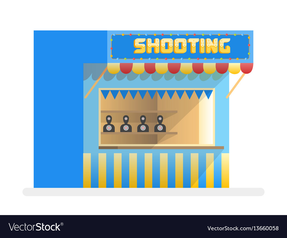 Cartoon shooting gallery amusement park