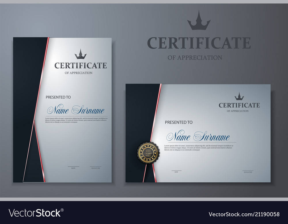 Certificate Template Luxury And Modern Pattern Vector Image