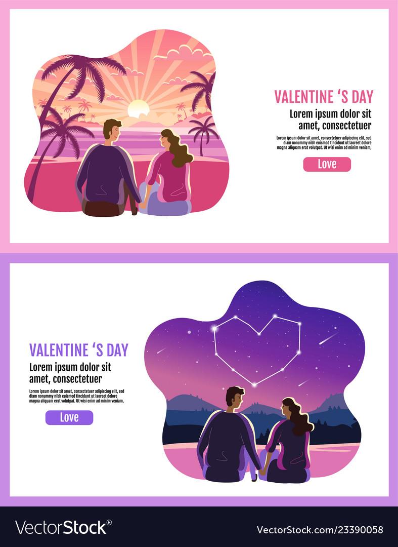 Lovely couple valentines day star sky sun