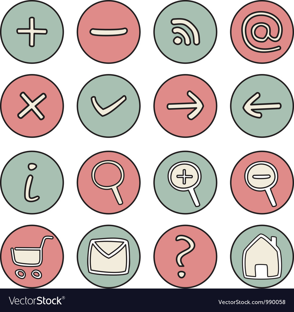 Set of doodle hand drawn icons