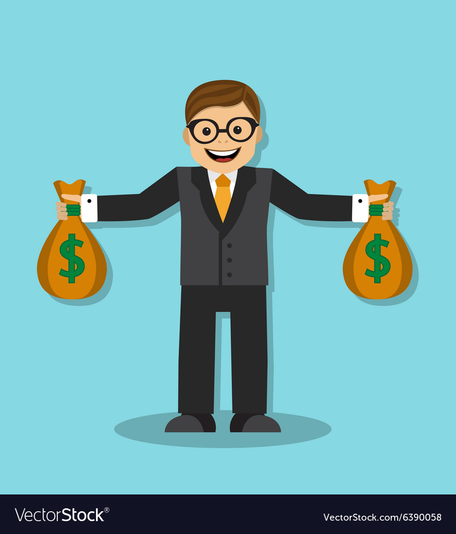 Successful and wealthy businessman vector image