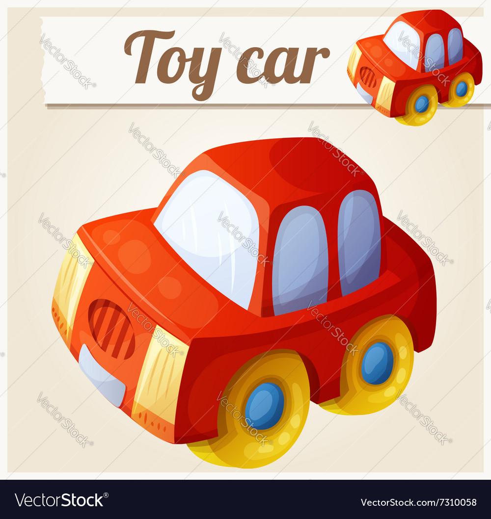 Toy red car Cartoon