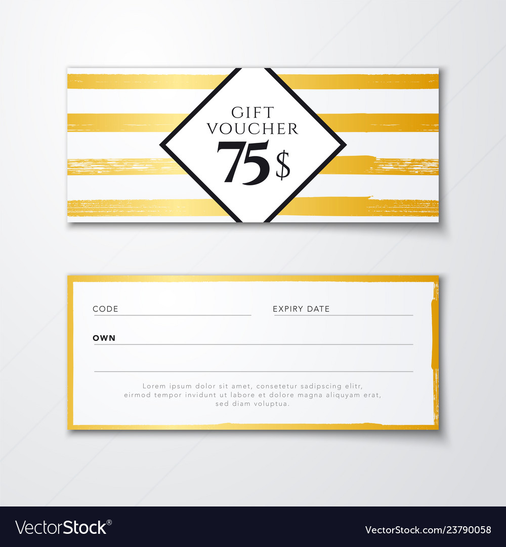 Trendy gift voucher discount coupon card template