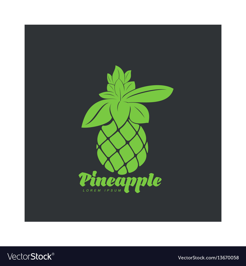 Two tone assymmetric graphic silhouette pineapple