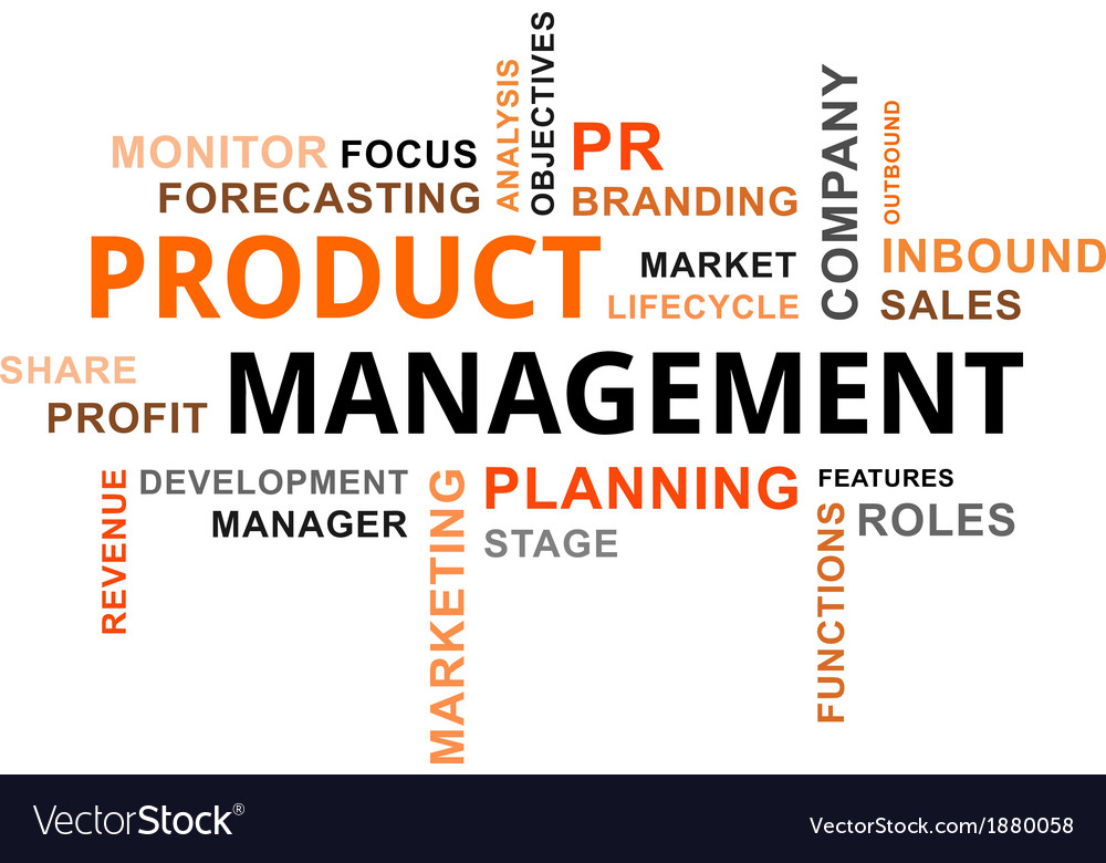 Word Cloud Product Management Royalty Free Vector Image
