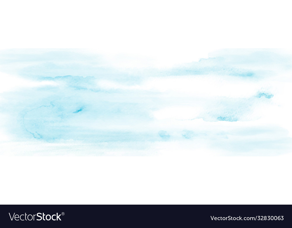 Abstract sky and cloud light blue watercolor