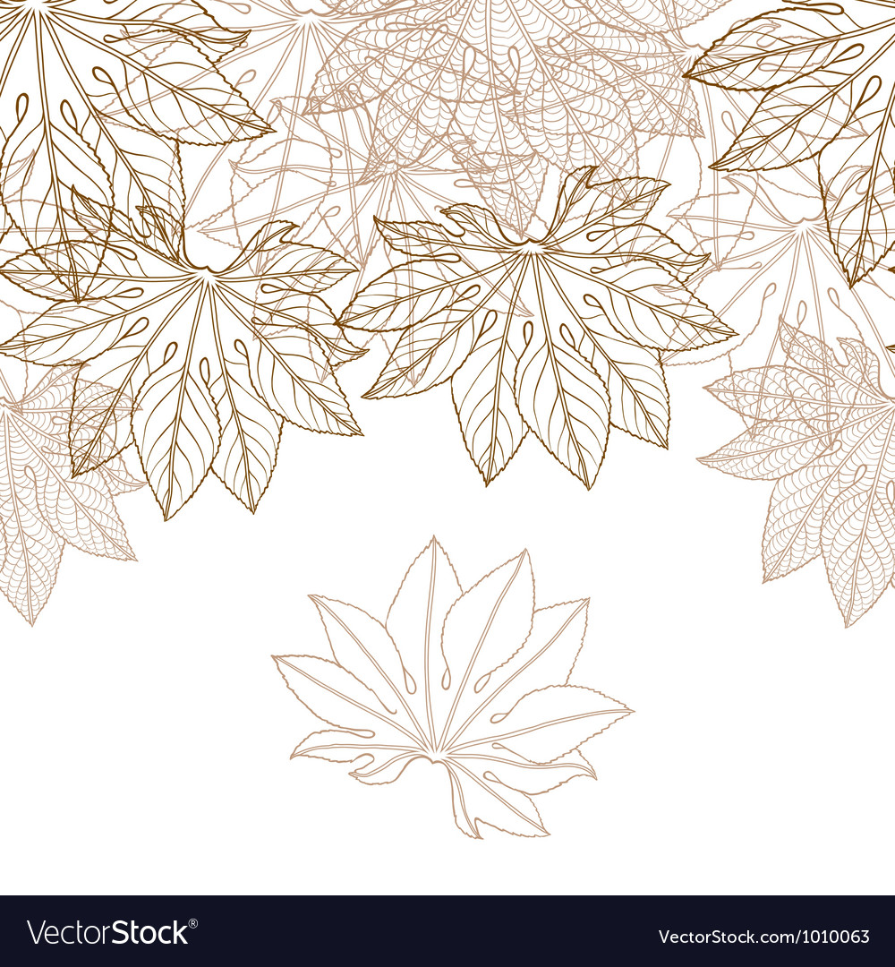Autumn braun leaves background