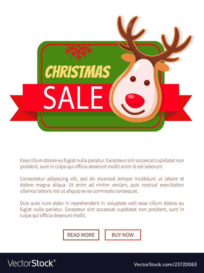 Christmas sale greeting card gingerbread deer head